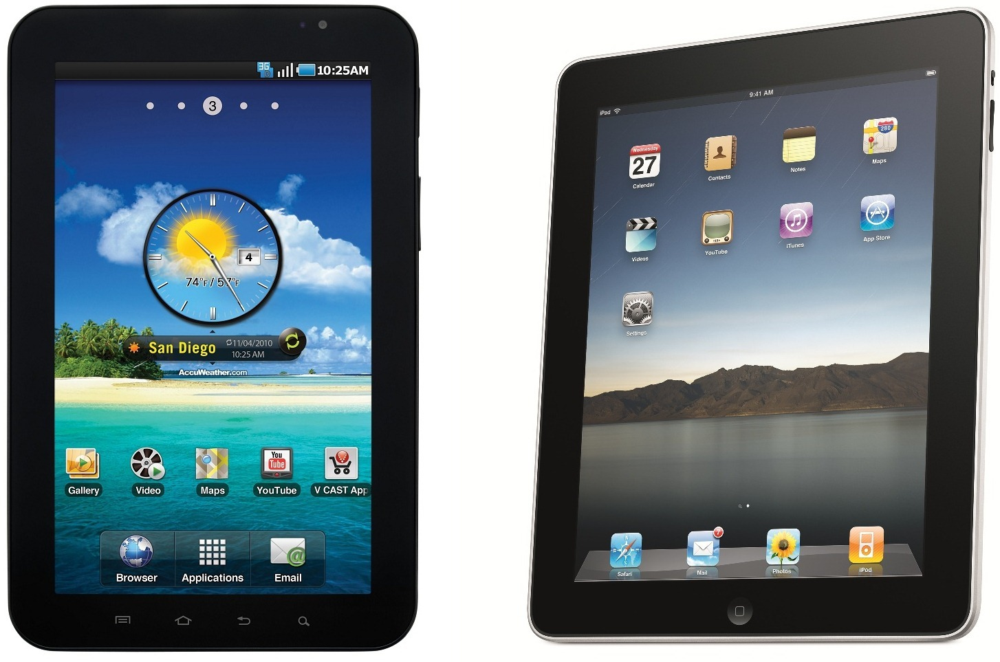 Samsung Galaxy Tab 10.1 equals iPad 2 in performance