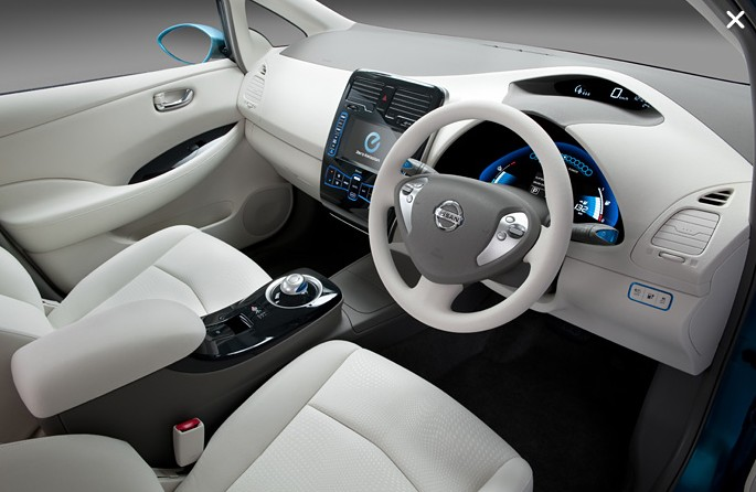 Nissan Leaf has stunning interior