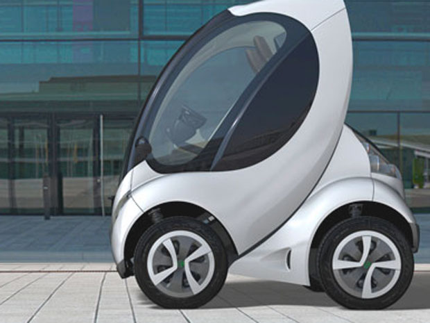 The Hiriko electric car can fold itself