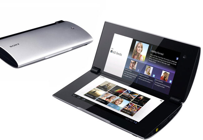 sony tablet P has an exciting design