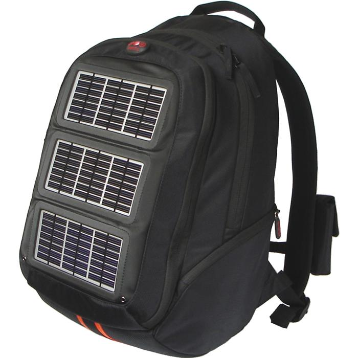 solar backpack to charge your phone battery at emergency