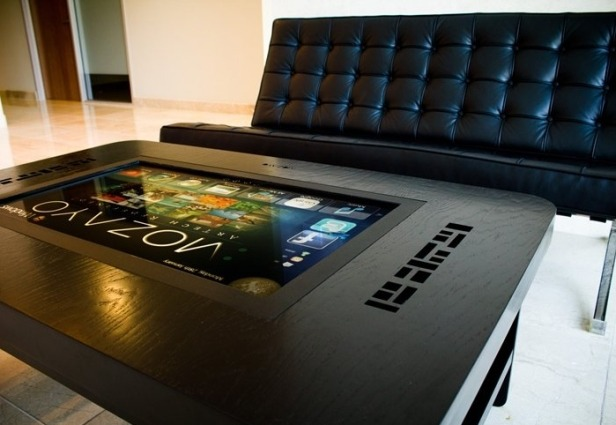 Stay connected even when you have your coffee with high tech coffee tables - Table basse high tech ...