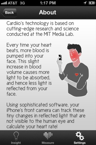 iPhone camera heart rate monitor is an handy app!